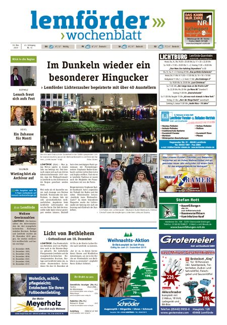 Lemförder Wochenblatt vom 18.12.2019