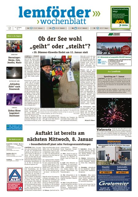 Lemförder Wochenblatt vom 04.01.2020