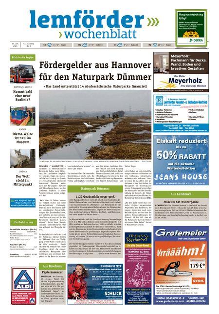Lemförder Wochenblatt vom 11.01.2020