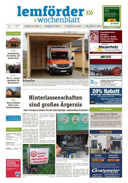 Lemförder Wochenblatt vom 18.01.2020