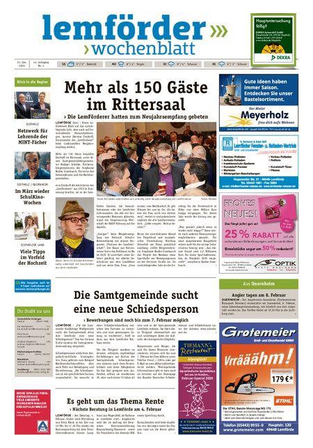 Lemförder Wochenblatt vom 25.01.2020
