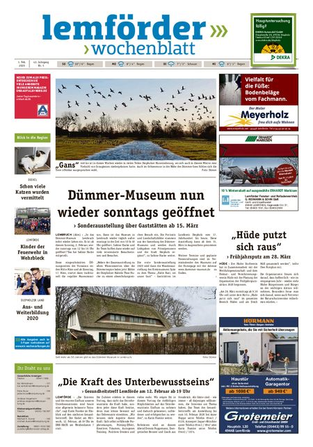 Lemförder Wochenblatt vom 01.02.2020