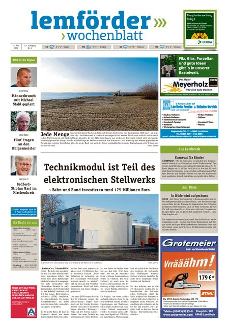 Lemförder Wochenblatt vom 22.02.2020