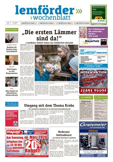 Lemförder Wochenblatt vom 07.03.2020