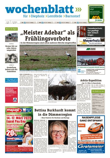 Lemförder Wochenblatt vom 14.03.2020