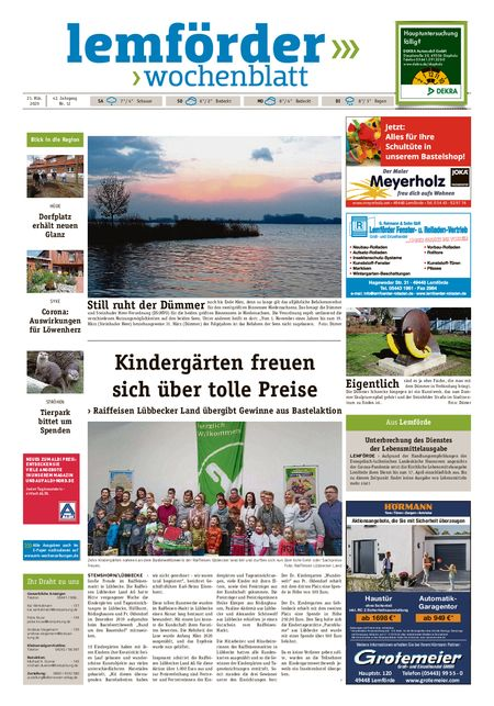 Lemförder Wochenblatt vom 21.03.2020