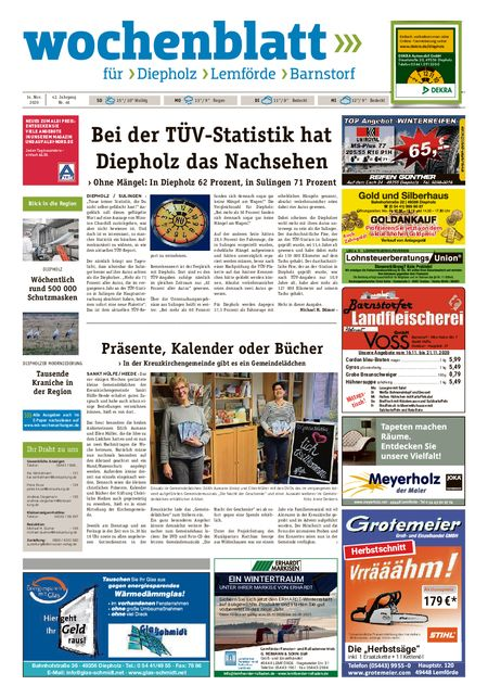 Lemförder Wochenblatt vom 14.11.2020