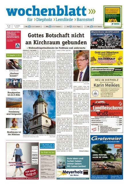 Lemförder Wochenblatt vom 28.11.2020