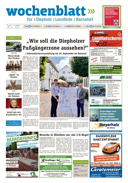 Lemförder Wochenblatt vom 25.09.2021