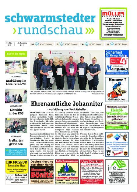 Schwarmstedter Rundschau vom 14.03.2019