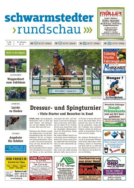 Schwarmstedter Rundschau vom 09.05.2019