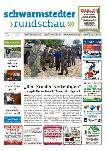Schwarmstedter Rundschau vom 23.05.2019