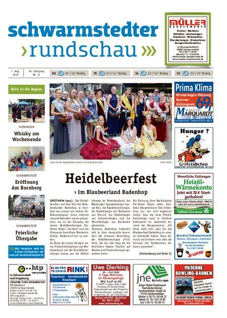 Schwarmstedter Rundschau vom 01.08.2019