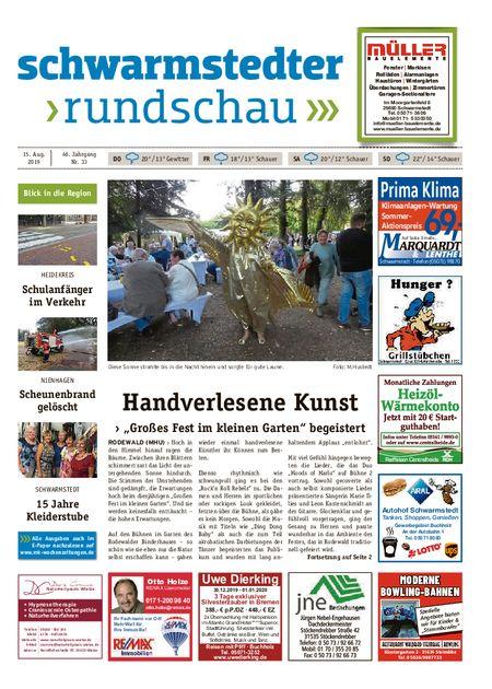 Schwarmstedter Rundschau vom 15.08.2019