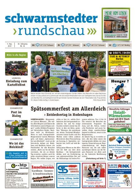 Schwarmstedter Rundschau vom 05.09.2019