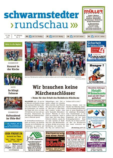 Schwarmstedter Rundschau vom 12.09.2019