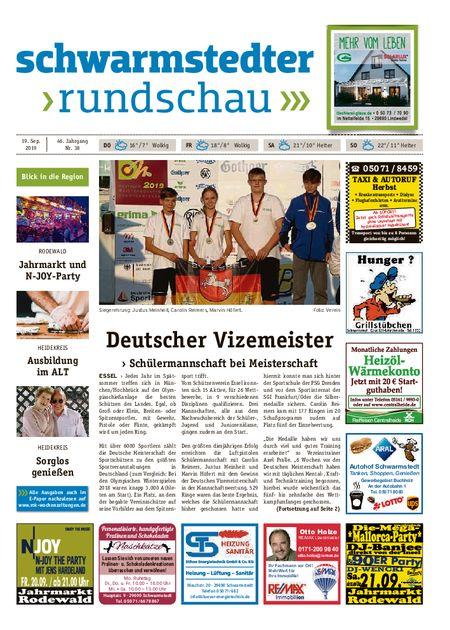Schwarmstedter Rundschau vom 19.09.2019