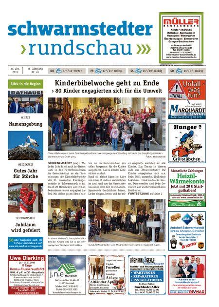 Schwarmstedter Rundschau vom 24.10.2019