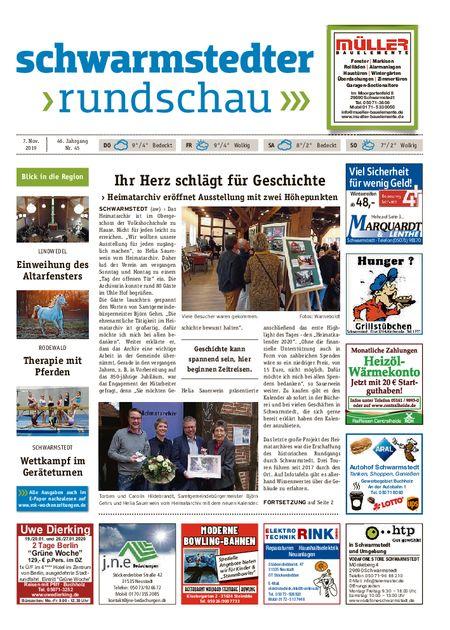 Schwarmstedter Rundschau vom 07.11.2019