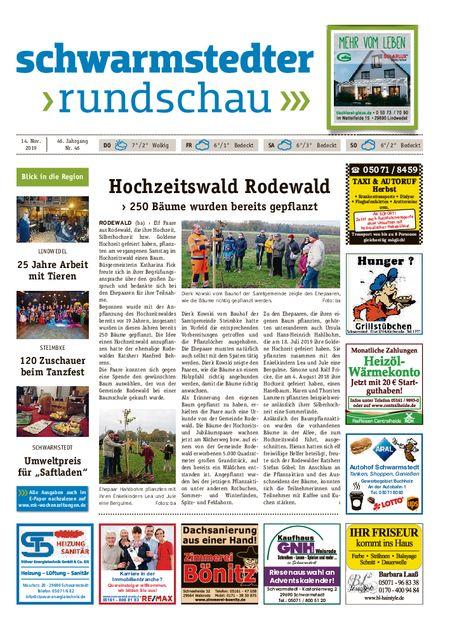 Schwarmstedter Rundschau vom 14.11.2019