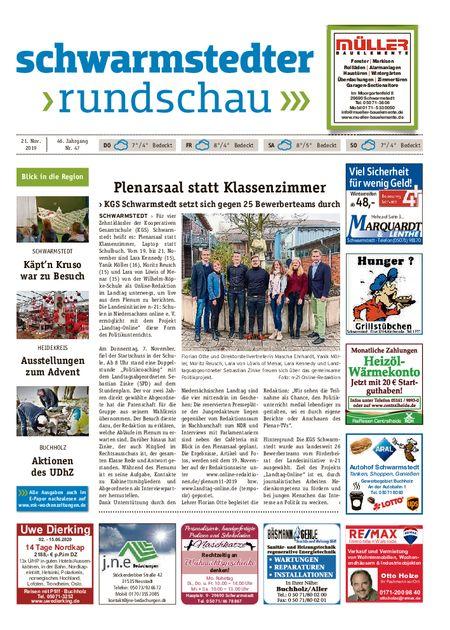 Schwarmstedter Rundschau vom 21.11.2019