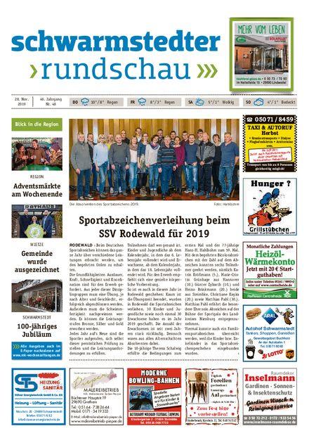 Schwarmstedter Rundschau vom 28.11.2019