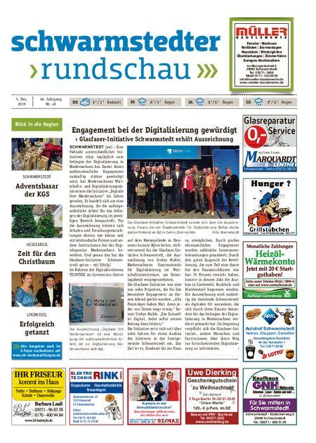 Schwarmstedter Rundschau vom 05.12.2019