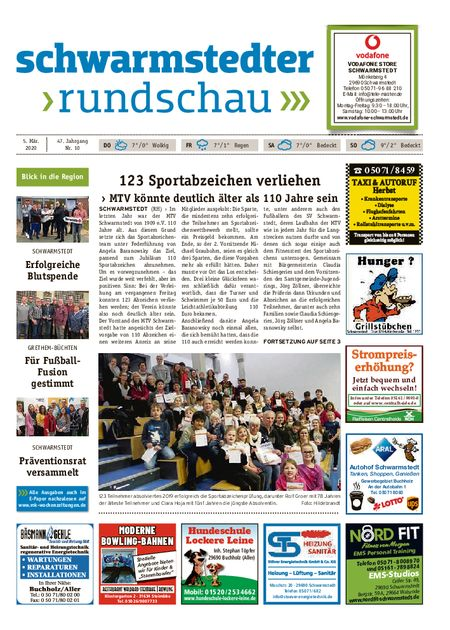 Schwarmstedter Rundschau vom 05.03.2020