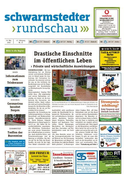 Schwarmstedter Rundschau vom 19.03.2020