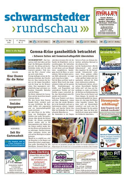 Schwarmstedter Rundschau vom 26.03.2020