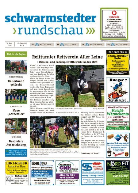 Schwarmstedter Rundschau vom 06.08.2020