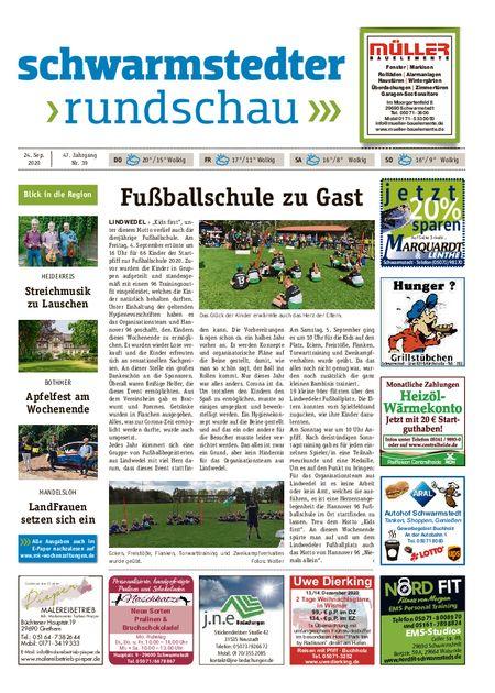 Schwarmstedter Rundschau vom 24.09.2020