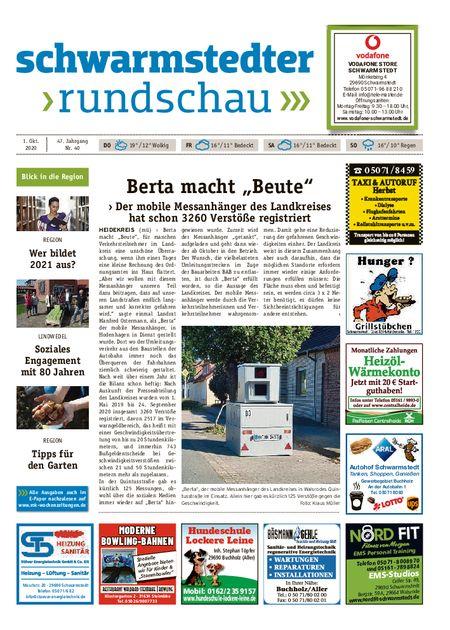 Schwarmstedter Rundschau vom 01.10.2020