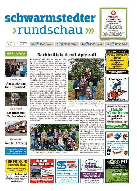 Schwarmstedter Rundschau vom 15.10.2020