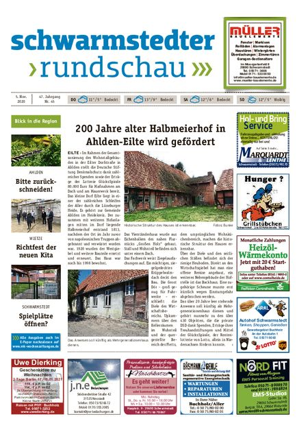 Schwarmstedter Rundschau vom 05.11.2020
