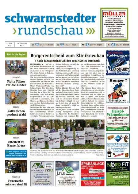 Schwarmstedter Rundschau vom 27.03.2021