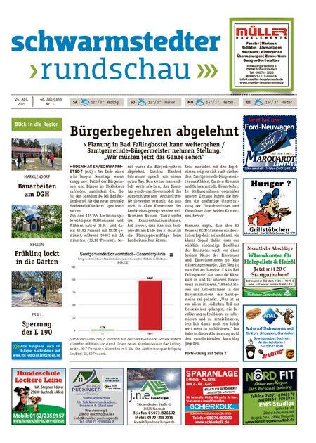 Schwarmstedter Rundschau vom 24.04.2021