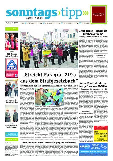 Sonntags-Tipp Achim-Verden vom 27.01.2019