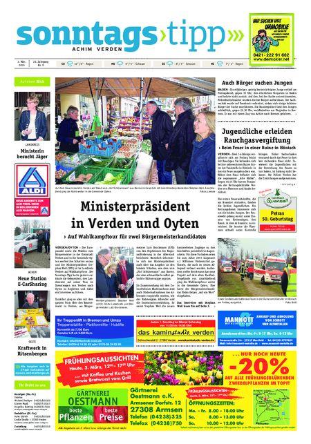 Sonntags-Tipp Achim-Verden vom 03.03.2019