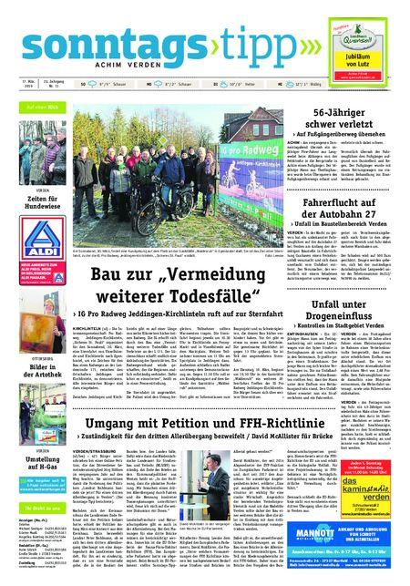 Sonntags-Tipp Achim-Verden vom 17.03.2019