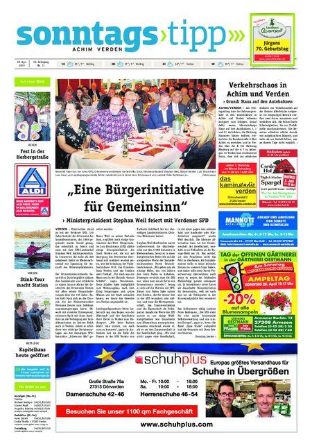 Sonntags-Tipp Achim-Verden vom 28.04.2019