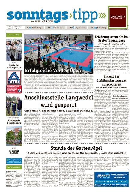 Sonntags-Tipp Achim-Verden vom 05.05.2019
