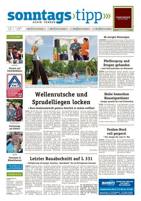 Sonntags-Tipp Achim-Verden vom 19.05.2019