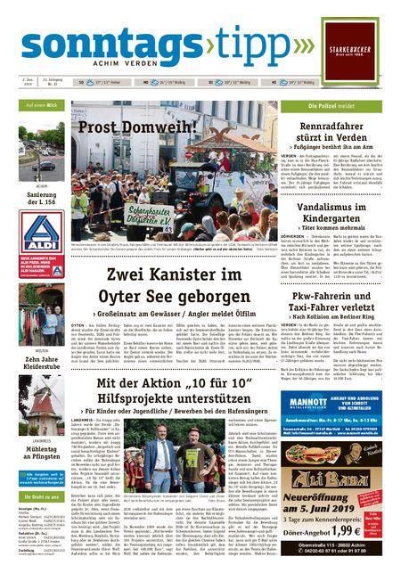 Sonntags-Tipp Achim-Verden vom 02.06.2019