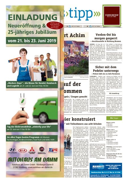 Sonntags-Tipp Achim-Verden vom 16.06.2019