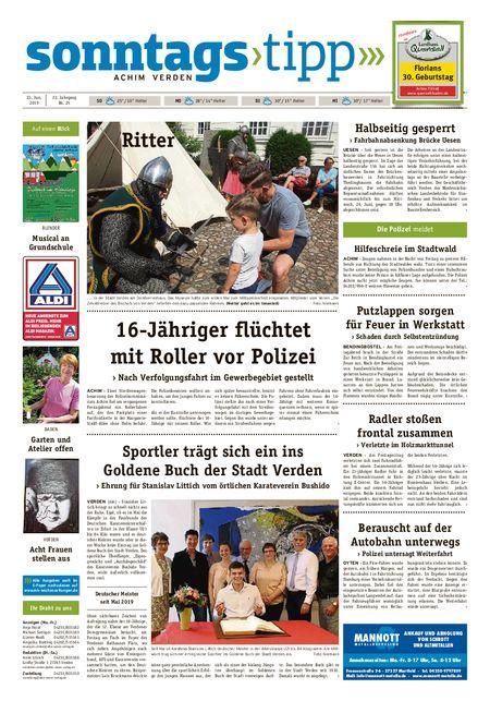 Sonntags-Tipp Achim-Verden vom 23.06.2019