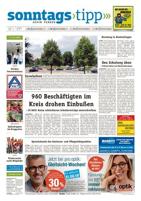 Sonntags-Tipp Achim-Verden vom 04.08.2019