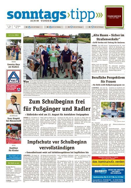Sonntags-Tipp Achim-Verden vom 11.08.2019