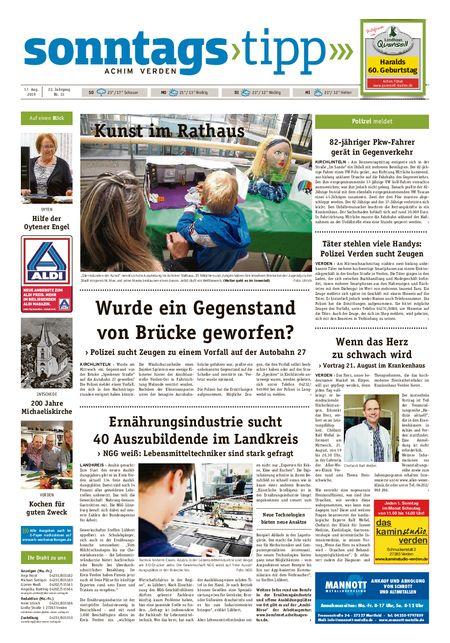 Sonntags-Tipp Achim-Verden vom 18.08.2019