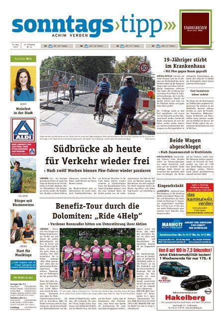 Sonntags-Tipp Achim-Verden vom 25.08.2019